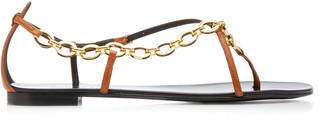 Giuseppe Zanotti Chain-Embellished Leather Sandals