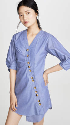 Tibi Striped Asymmetrical Shirtdress