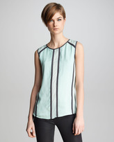 Isabella Collection J Brand Ready to Wear Contrast Silk Top