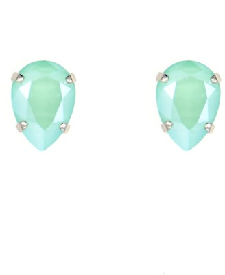 Rosaspina Firenze Drop Stud Earrings In Mint Green