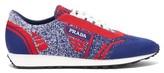 Prada - Milano Jacquard Knit Low Top Trainers - Mens - Red Multi