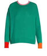 Marni Cashmere Colorblock Trim Knit Sweater