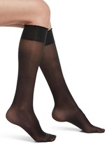 Hue Graduated Compression Sheer Knee Highs