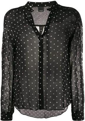 Pinko Polka-Dot Print Shirt