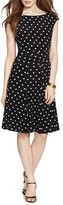 Lauren Ralph Lauren Petites Dot Print Dress