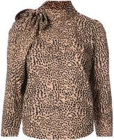 Ulla Johnson Cheetah pussybow blouse