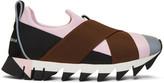 Dolce & Gabbana Pink & Black Ibiza Slip-On Sneakers