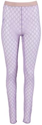 Gucci Gg Monogram Leggings Lilac