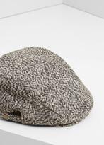 MANGO MAN Tweed Flat Cap