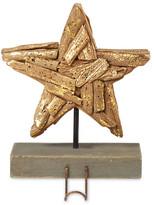 Mud Pie Brown Copper Brush Driftwood Star Stocking Holder
