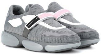 Prada Cloudbust leather-trimmed mesh sneakers