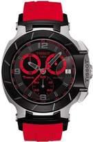Tissot Men's T0484172705702 T-Race Quartz Red Strap Chronograph Dial Watch
