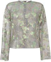 MSGM floral jacquard blouse