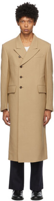 System Beige Side Button Coat