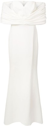Christian Siriano Off The Shoulders Dress