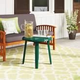 Kinkaider Plastic/Resin Dining Table Red Barrel Studio Color: Green