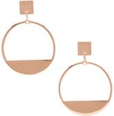Carole Rose Goldtone Open Hoop Earrings