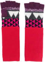 Burberry geometric print fingerless gloves
