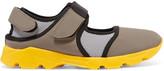Marni Paneled Neoprene And Mesh Sneakers - Gray