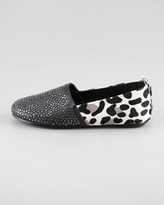 House Of Harlow Kye Stud-Toe Calf-Hair Flat