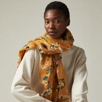 Love & Lore Love And Lore Prairie Floral Scarf Golden Rod