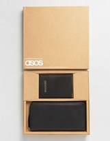 Asos Gift Set With Leather Passport Cover and Travel Wallet