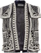 Balmain Embellished velvet vest