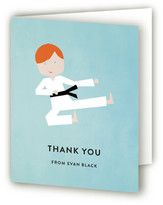 Minted Karate Kid Children's Birthday Party Thank You Cards