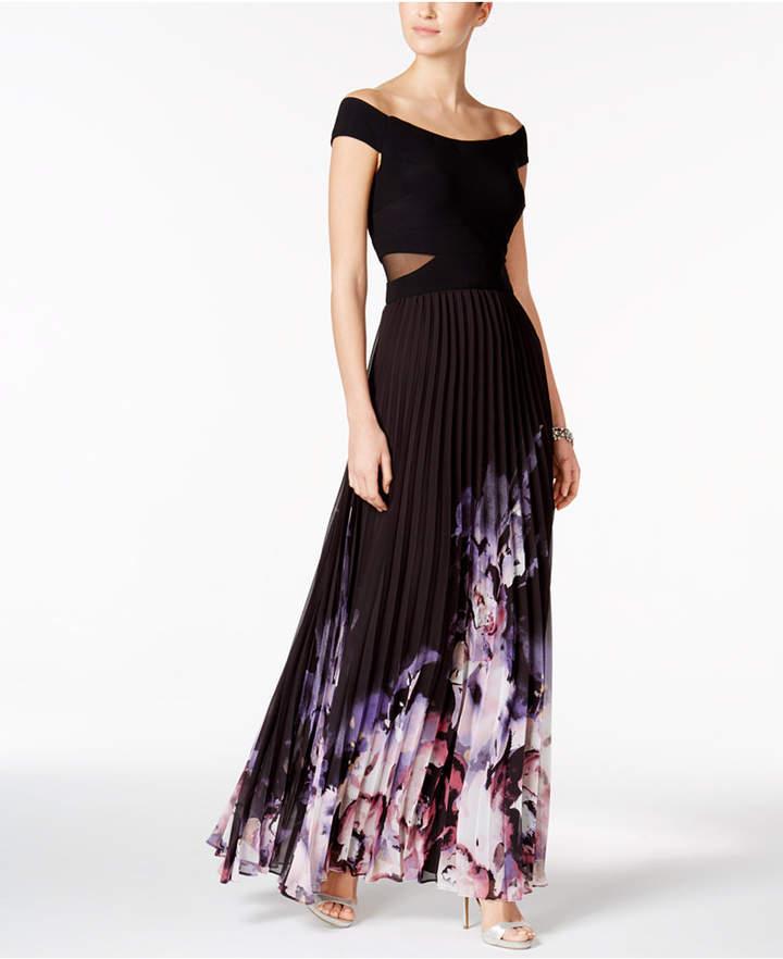 Xscape Evenings Off-The-Shoulder A-Line Gown