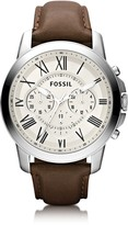 Fossil Grant Chronograph Leather Men's Watch
