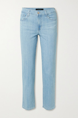J Brand Adele High-rise Slim-leg Jeans - Light blue