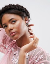 Asos Pretty Flower Ear Cuffs