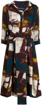 Samantha Sung Square Print Shirt Dress