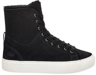 UGG Beven High-Top Sheepskin-Lined Suede Sneakers