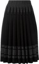 Alexander McQueen pleated A-line skirt - women - Polyamide/Polyester/Spandex/Elastane/Wool - S