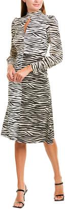 A.L.C. Kennedy Silk-Blend Midi Dress