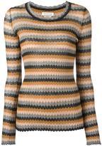 Etoile Isabel Marant zigzag pattern jumper - women - Cotton - 42