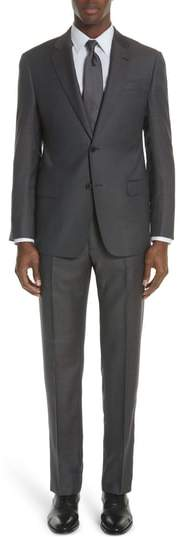 Emporio Armani G Line Trim Fit Check Wool Suit