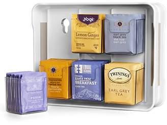 YouCopia 06121-31-WHT TeaStand 100+ Tea Bag Organizer
