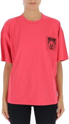 Moschino Logo Patch Cropped T-Shirt