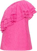 Manon Baptiste Plus Size One shoulder lace top