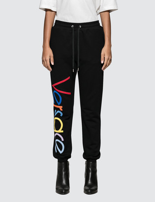 Versace Rainbow Color Logo Sweatpants