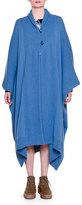Stella McCartney Long-Sleeve Oversized Cape, Steel Blue