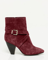 Le Château Suede Cone Heel Ankle Boot