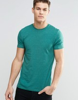 Asos Muscle T-Shirt With Crew Neck In Teal Marl