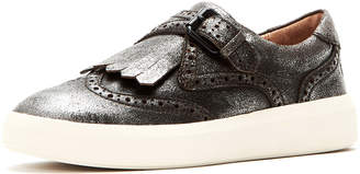 Frye Brea Metallic Leather Wing-Tip Kiltie Skate Sneakers