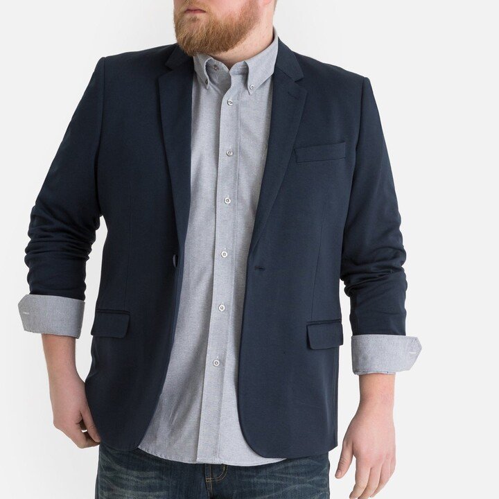 Thumbnail for your product : La Redoute Collections Plus Straight Cut Blazer with Single-Breasted Buttons