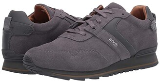HUGO BOSS Parkour Low Top Sneaker by Medium Grey) Men's Shoes