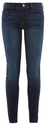 Frame Le Skinny De Jeanne Stretch Cotton-blend Jeans - Womens - Dark Denim