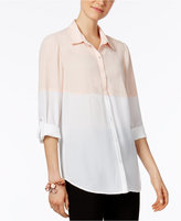 NY Collection Colorblocked Shirt